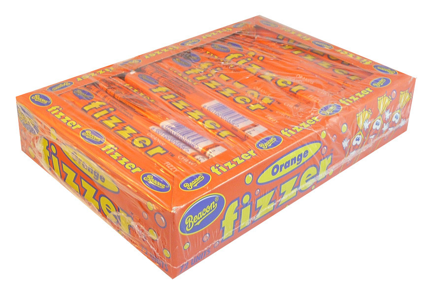 Beacon Fizzers - Orange, by Beacon,  and more Confectionery at The Professors Online Lolly Shop. (Image Number :3656)