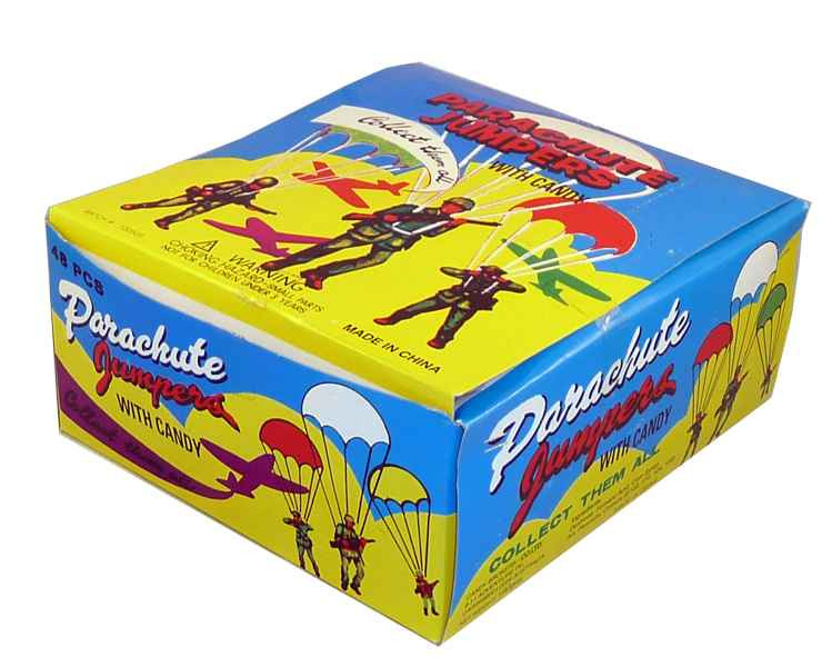 Parachute Jumpers, by Candy Brokers,  and more Confectionery at The Professors Online Lolly Shop. (Image Number :2095)