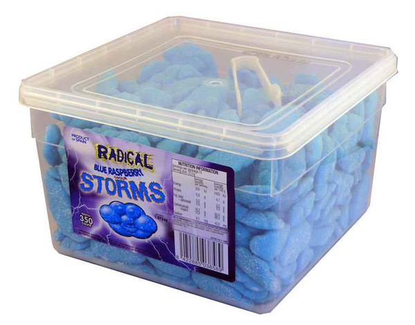 Radical Storms - Blue Raspberry, by AIT Confectionery,  and more Confectionery at The Professors Online Lolly Shop. (Image Number :2107)
