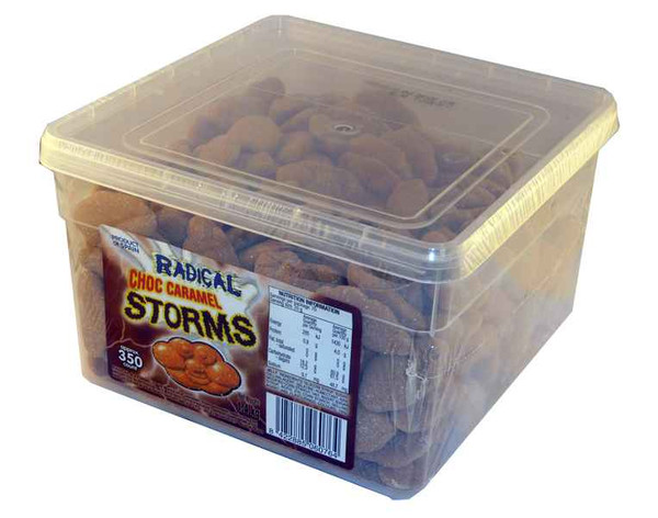 Radical Storms - Choc-Caramel, by AIT Confectionery,  and more Confectionery at The Professors Online Lolly Shop. (Image Number :2108)
