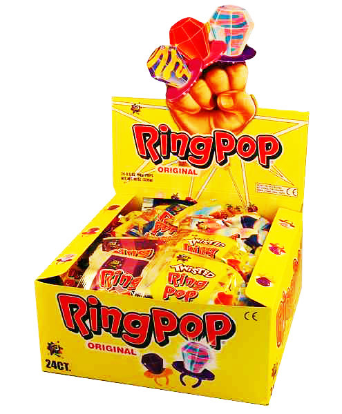 RingPop Original, by Myriad Marketing,  and more Confectionery at The Professors Online Lolly Shop. (Image Number :8344)