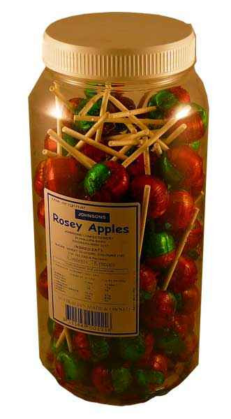 Rosey Apples, by Johnsons Confectionery,  and more Confectionery at The Professors Online Lolly Shop. (Image Number :2117)