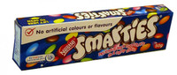 Smarties 50gm, by Nestle,  and more Confectionery at The Professors Online Lolly Shop. (Image Number :2127)
