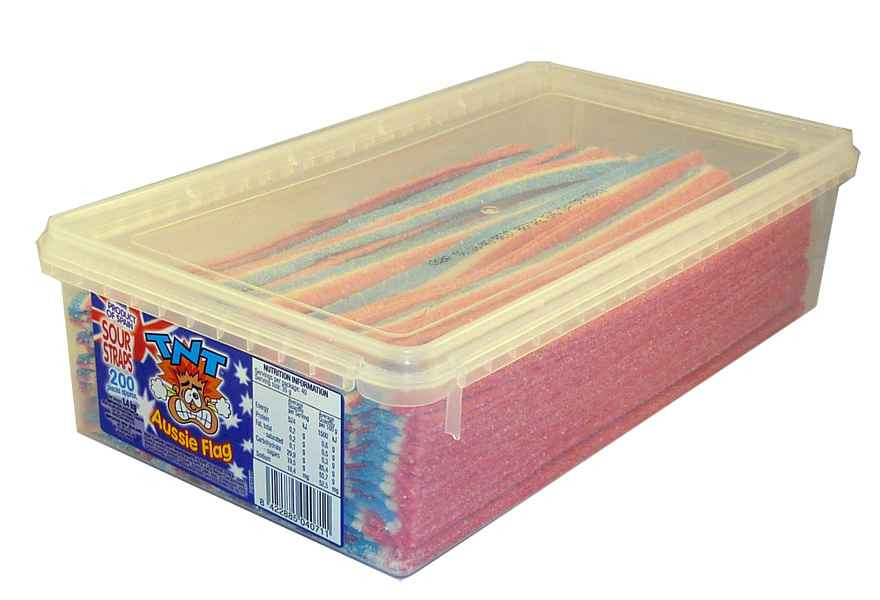 TNT Sour Straps Aussie Flags, by TNT,  and more Confectionery at The Professors Online Lolly Shop. (Image Number :2152)