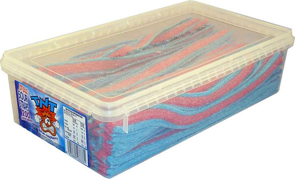 TNT Sour Straps Blue Raspberry, by TNT,  and more Confectionery at The Professors Online Lolly Shop. (Image Number :2153)