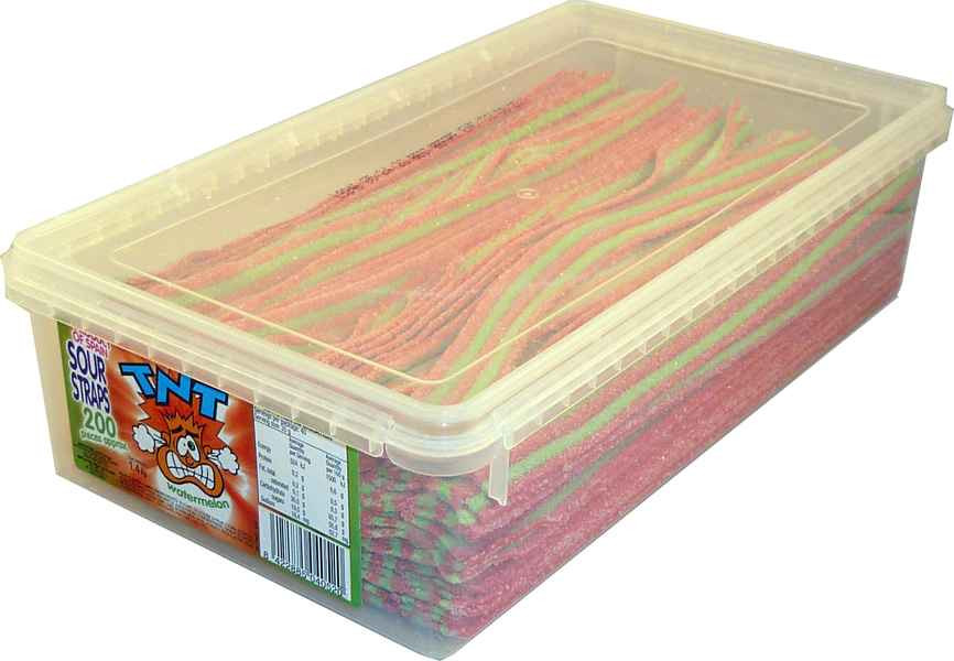 TNT Sour Straps Watermelon, by TNT,  and more Confectionery at The Professors Online Lolly Shop. (Image Number :2160)