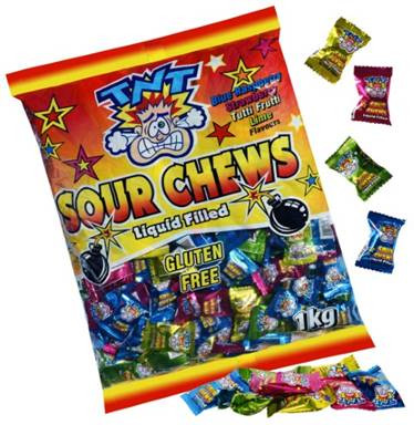 TNT Sours, by TNT,  and more Confectionery at The Professors Online Lolly Shop. (Image Number :12561)