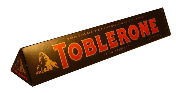 Toblerone Dark Chocolate Bar, by Other,  and more Confectionery at The Professors Online Lolly Shop. (Image Number :2162)