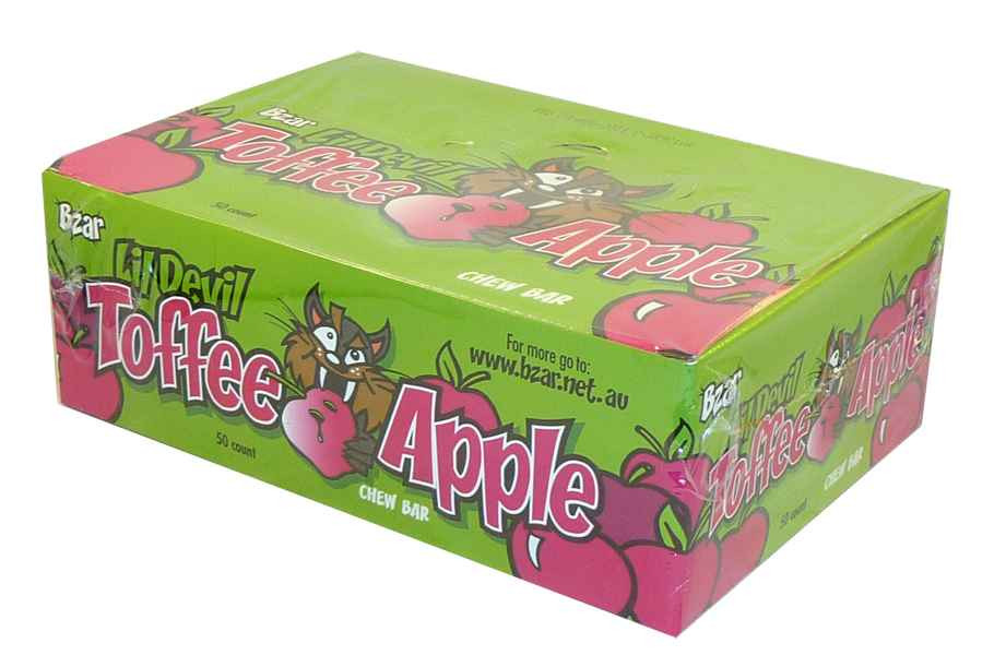 Toffee Apple, by Candy Brokers,  and more Confectionery at The Professors Online Lolly Shop. (Image Number :2164)