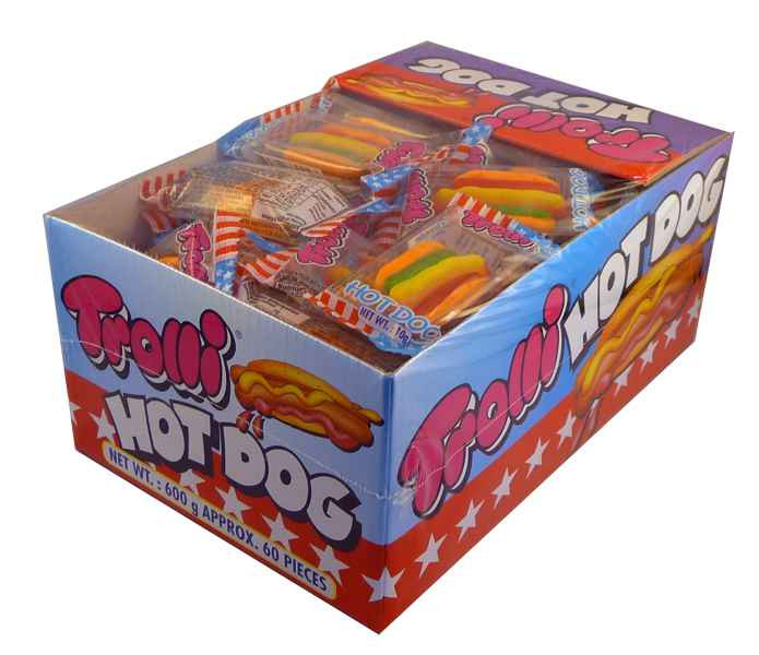 Trolli Hot Dogs, by Trolli,  and more Confectionery at The Professors Online Lolly Shop. (Image Number :2176)