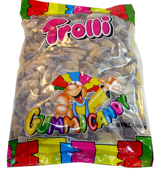 Trolli Sour Cola Bottles 2kg Bulk Bag, by Trolli,  and more Confectionery at The Professors Online Lolly Shop. (Image Number :3589)