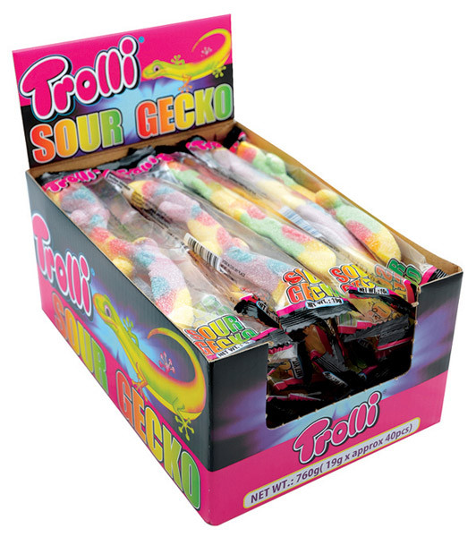 Trolli Sour Gecko, by Trolli,  and more Confectionery at The Professors Online Lolly Shop. (Image Number :7374)