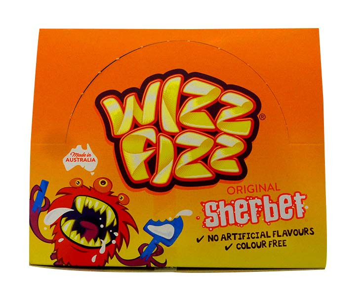 Wizz Fizz - Original Sherbet, by Fyna Foods,  and more Confectionery at The Professors Online Lolly Shop. (Image Number :10583)