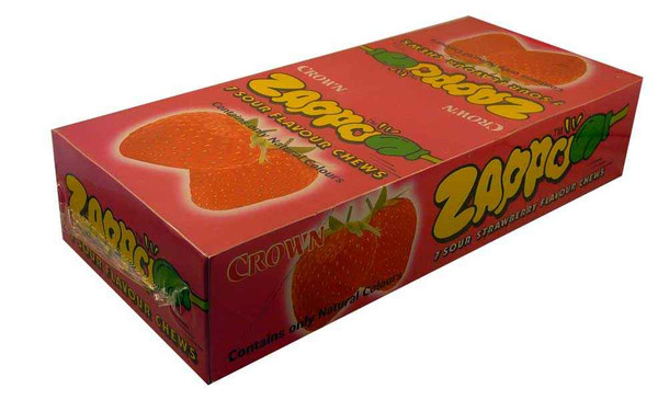 Zappo - Strawberry Chews, by Crown Confectionery,  and more Confectionery at The Professors Online Lolly Shop. (Image Number :2213)