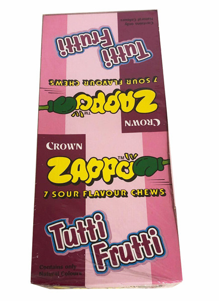 Zappo - Tutti-Fruity Chews, by Crown Confectionery,  and more Confectionery at The Professors Online Lolly Shop. (Image Number :14172)
