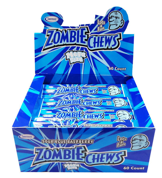Zombie Chews Sour Blue Raspberry Looking For It Find