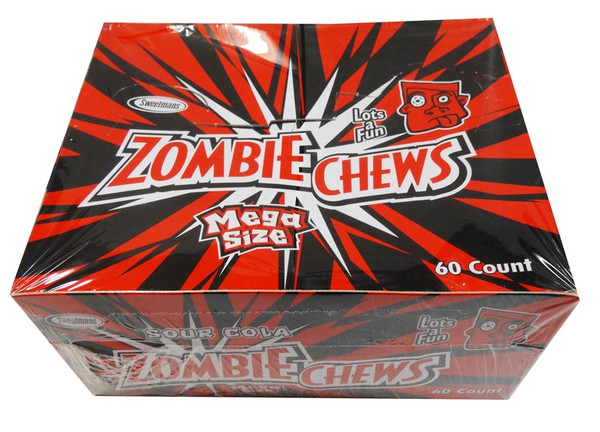 Zombie Chews - Sour Cola, by Sweetmans,  and more Confectionery at The Professors Online Lolly Shop. (Image Number :8329)