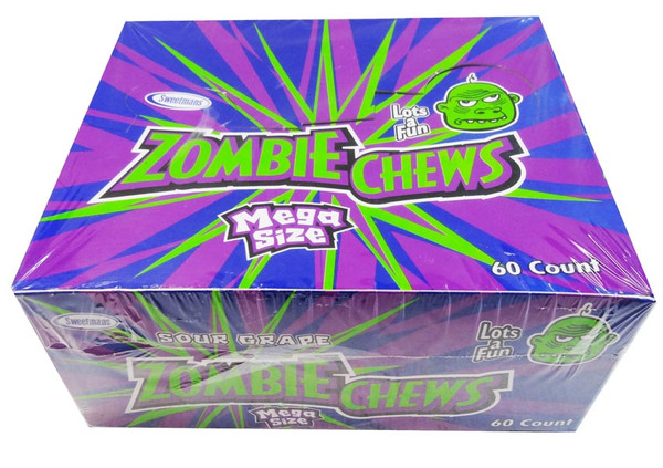 Zombie Chews - Sour Grape, by Sweetmans,  and more Confectionery at The Professors Online Lolly Shop. (Image Number :8325)