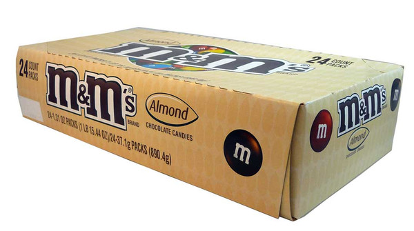 M&M Almond, by Mars,  and more Confectionery at The Professors Online Lolly Shop. (Image Number :2685)