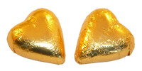 Chocolate Gems - Chocolate Hearts - Gold Foil, by Chocolate Gems,  and more Confectionery at The Professors Online Lolly Shop. (Image Number :2397)