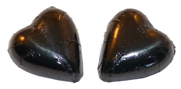 Chocolate Gems - Chocolate Hearts - Black Foil, by Chocolate Gems,  and more Confectionery at The Professors Online Lolly Shop. (Image Number :2408)