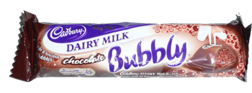 Cadbury Dairy Milk Chocolate Bubbly, by Cadbury,  and more Confectionery at The Professors Online Lolly Shop. (Image Number :2493)