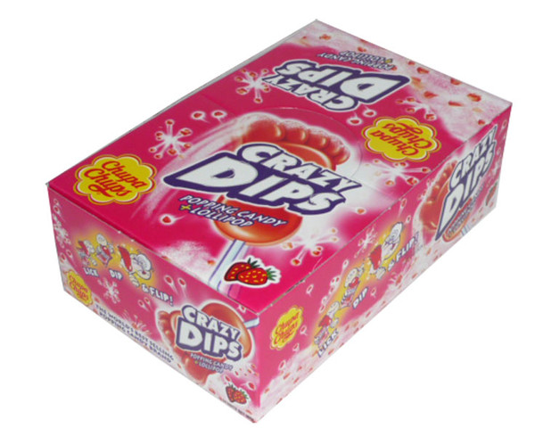 Chupa Chups Crazy Dips - Strawberry, by Chupa Chups,  and more Confectionery at The Professors Online Lolly Shop. (Image Number :2498)