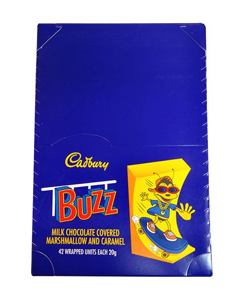 Cadbury Buzz, by Cadbury,  and more Confectionery at The Professors Online Lolly Shop. (Image Number :10301)