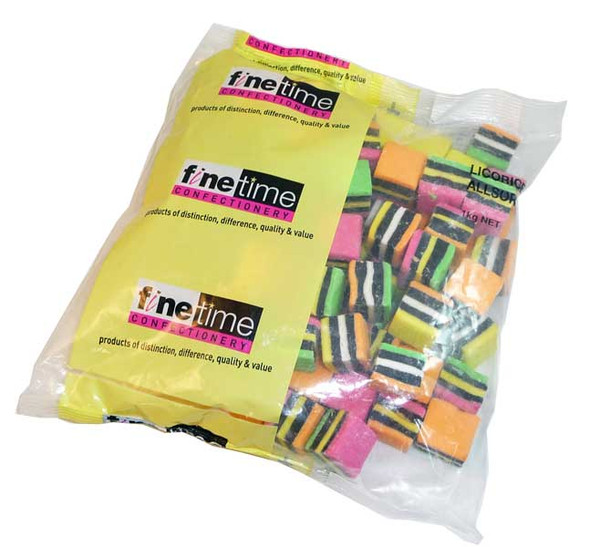 FineTime Licorice Allsorts, by FineTime,  and more Confectionery at The Professors Online Lolly Shop. (Image Number :2654)