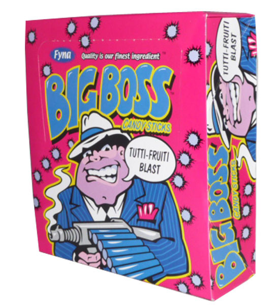 Big Boss Candy Sticks - Tutti Fruiti Blast, by Fyna Foods,  and more Confectionery at The Professors Online Lolly Shop. (Image Number :2531)