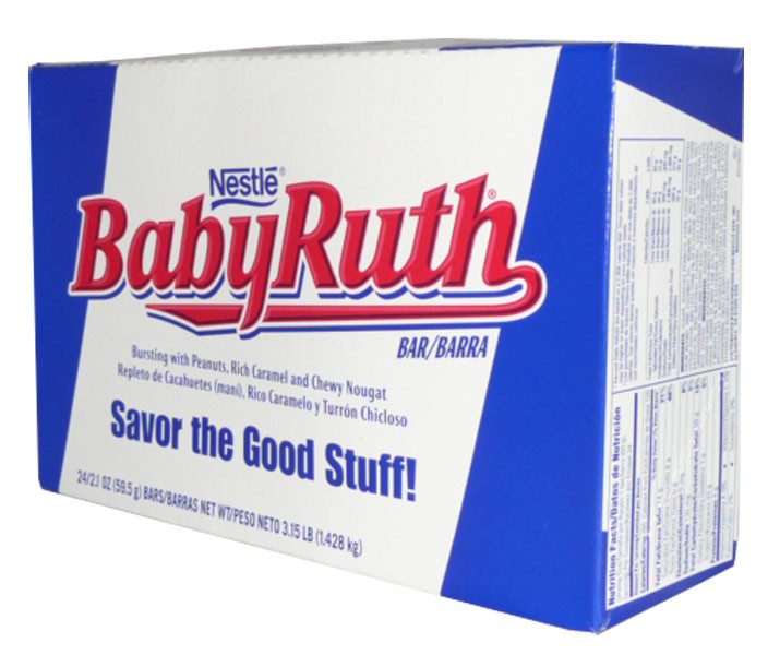 Nestle Baby Ruth Bars, by Nestle,  and more Confectionery at The Professors Online Lolly Shop. (Image Number :2542)