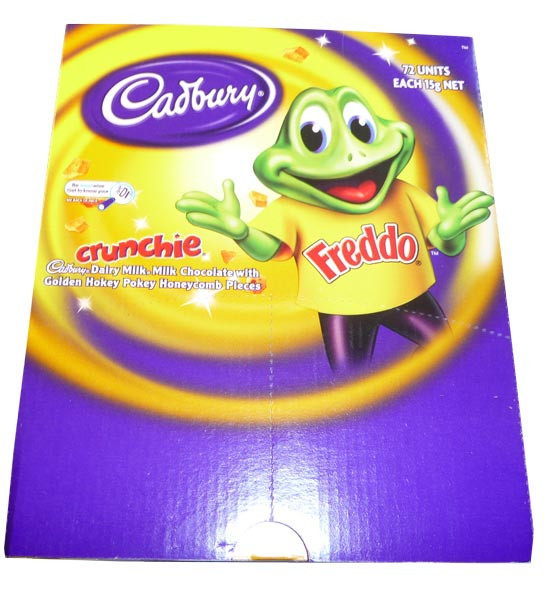 Cadbury Freddo Frog Crunchie, by Cadbury,  and more Confectionery at The Professors Online Lolly Shop. (Image Number :3023)