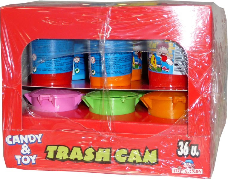 Trash Can, by Candy Brokers,  and more Confectionery at The Professors Online Lolly Shop. (Image Number :2604)