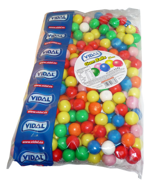 Vidal Fizz Gum Balls, by vidal,  and more Confectionery at The Professors Online Lolly Shop. (Image Number :4131)