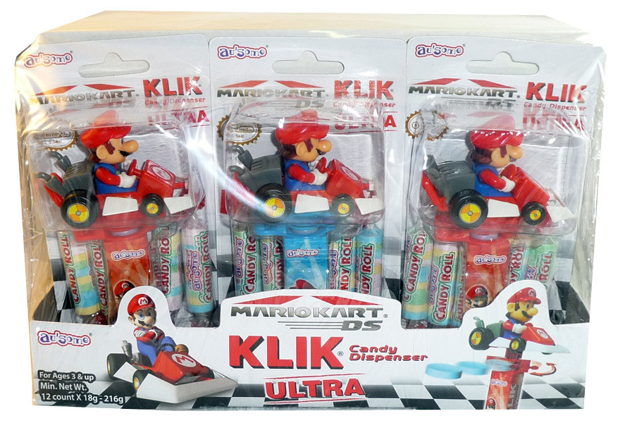 Mariokart Klik Candy Dispenser Ultra, by Candy Brokers,  and more Confectionery at The Professors Online Lolly Shop. (Image Number :3368)