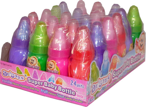 Super Baby Bottle, by Candy Brokers,  and more Confectionery at The Professors Online Lolly Shop. (Image Number :2583)