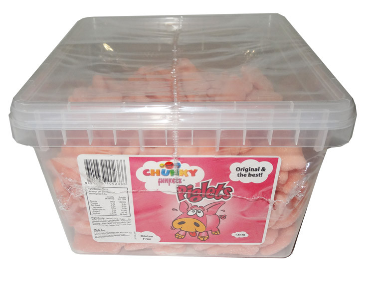 Chunky Funkeez Piglets, by Candy Brokers,  and more Confectionery at The Professors Online Lolly Shop. (Image Number :7861)