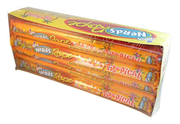 Wonka Nerds Rope - Tropical, by Wonka,  and more Confectionery at The Professors Online Lolly Shop. (Image Number :2745)