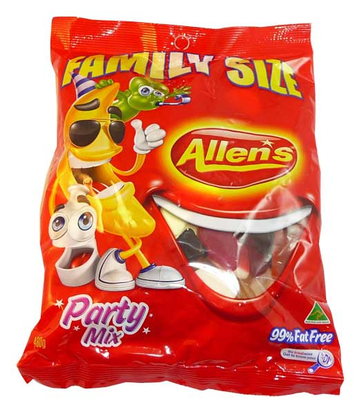 Allens Party Mix, by Allens Confectionery,  and more Confectionery at The Professors Online Lolly Shop. (Image Number :2575)