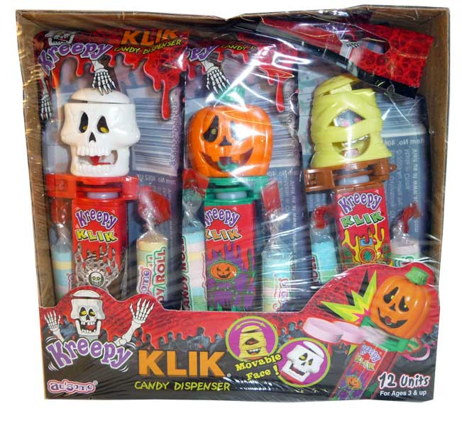 Kreepy Klik Candy Dispenser, by Candy Brokers,  and more Confectionery at The Professors Online Lolly Shop. (Image Number :2582)