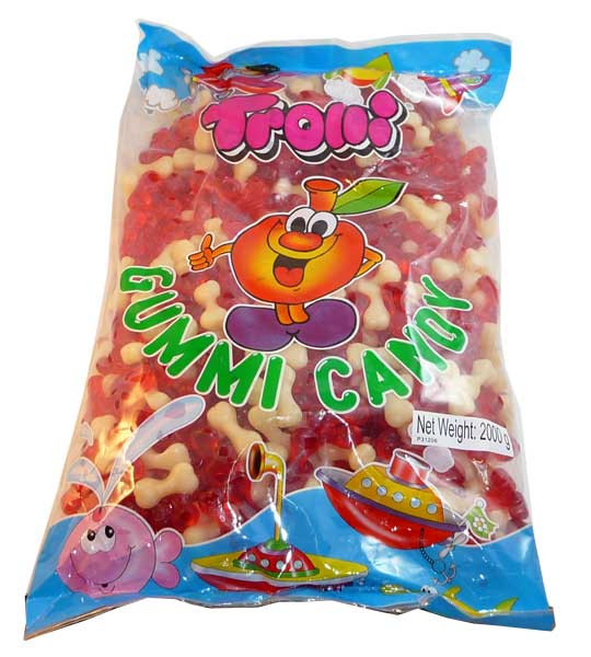 Trolli Bones 2kg Bulk, by Trolli,  and more Confectionery at The Professors Online Lolly Shop. (Image Number :2732)