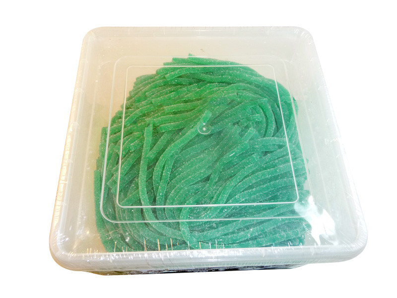 Lasooos Sour Watermelon Strings, by AIT Confectionery,  and more Confectionery at The Professors Online Lolly Shop. (Image Number :3266)