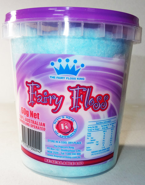The Fairy Floss King - Multicoloured Fairy Floss, by The Fairy Floss King,  and more Confectionery at The Professors Online Lolly Shop. (Image Number :5863)