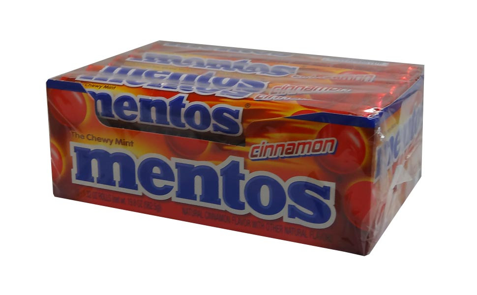 Mentos - Cinnamon, by Perfetti Van Melle,  and more Confectionery at The Professors Online Lolly Shop. (Image Number :10320)