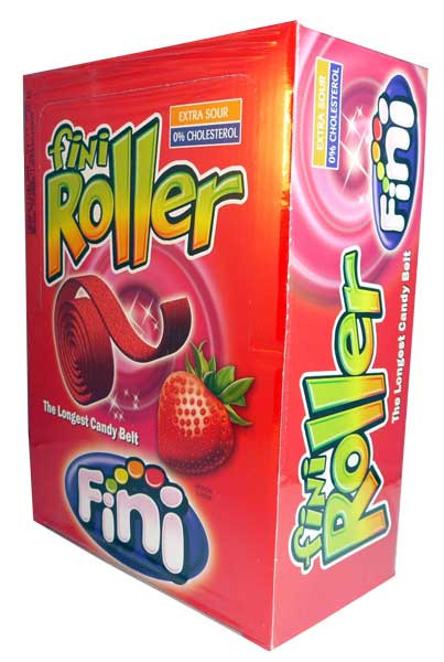 Fini Roller - Strawberry, by Confectionery Trading Company/Fini,  and more Confectionery at The Professors Online Lolly Shop. (Image Number :2665)