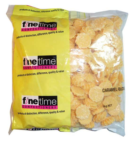 Finetime Caramel Buds, by Confectionery Trading Company/FineTime,  and more Confectionery at The Professors Online Lolly Shop. (Image Number :2647)