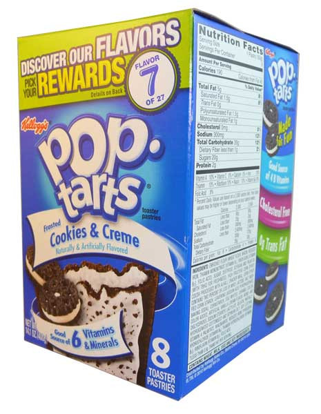 Kelloggs Pop Tarts - Frosted Cookies & Cream, by Kelloggs Pop Tarts,  and more Snack Foods at The Professors Online Lolly Shop. (Image Number :2720)