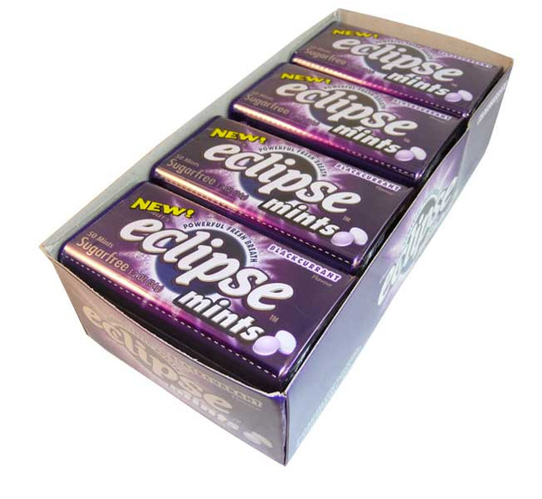 Eclipse Blackcurrant Mints, by Wrigley,  and more Confectionery at The Professors Online Lolly Shop. (Image Number :2636)