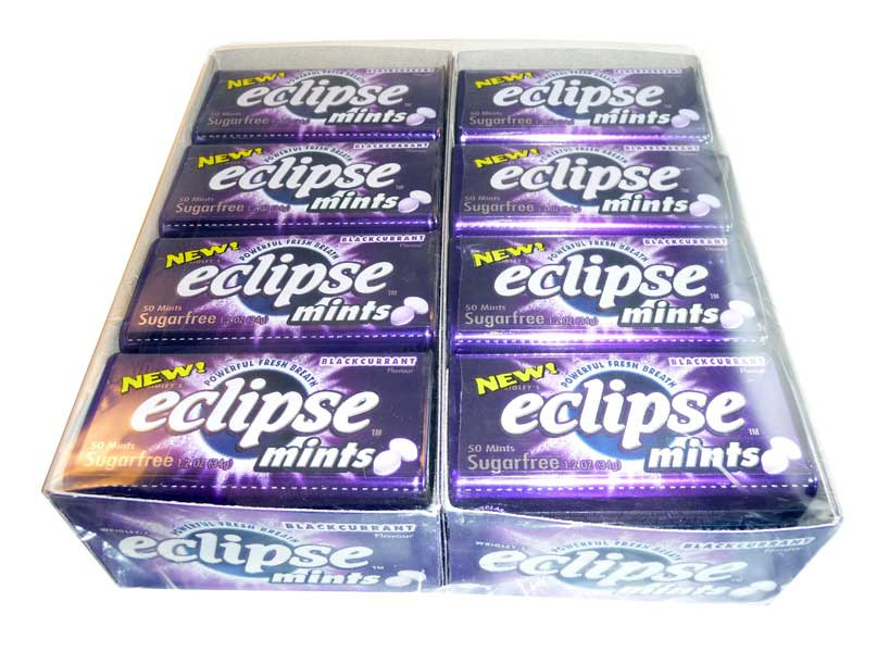 Eclipse Blackcurrant Mints, by Wrigley,  and more Confectionery at The Professors Online Lolly Shop. (Image Number :2633)