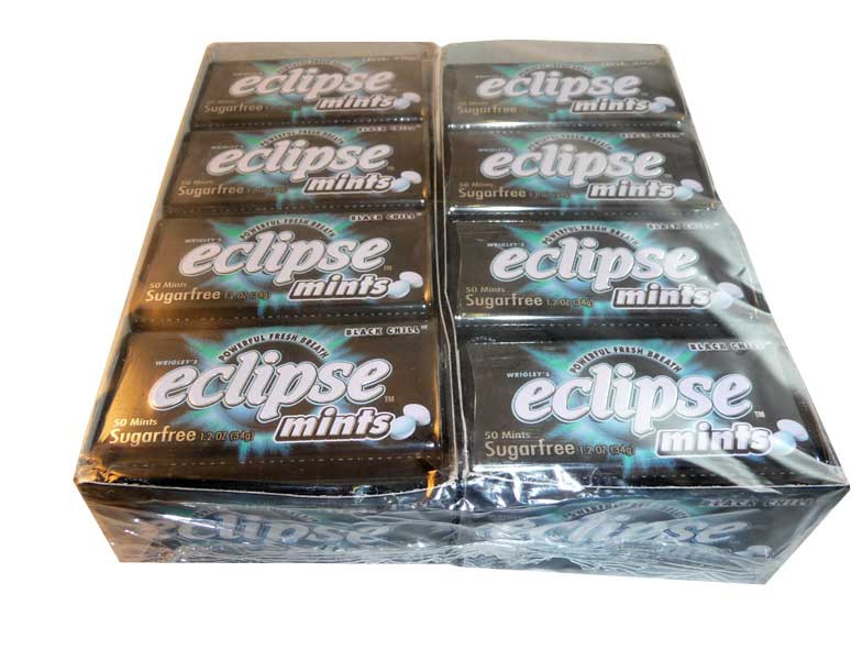 Eclipse Black Chill Mints, by Wrigley,  and more Confectionery at The Professors Online Lolly Shop. (Image Number :2627)